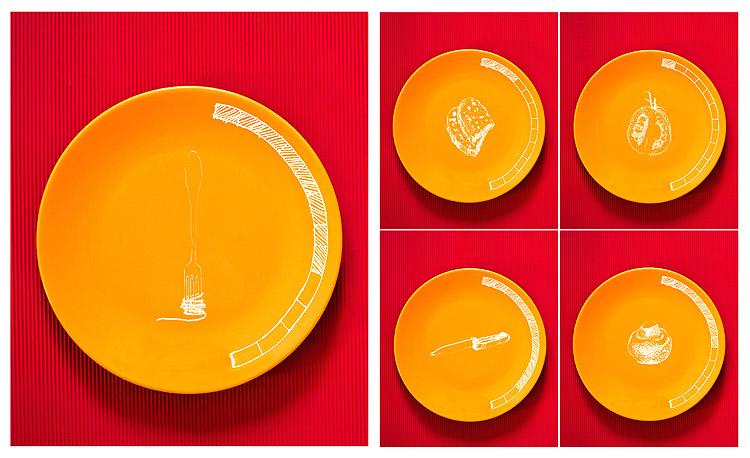 projekt graficzny poziomów wykorzystanych w książce kucharskiej