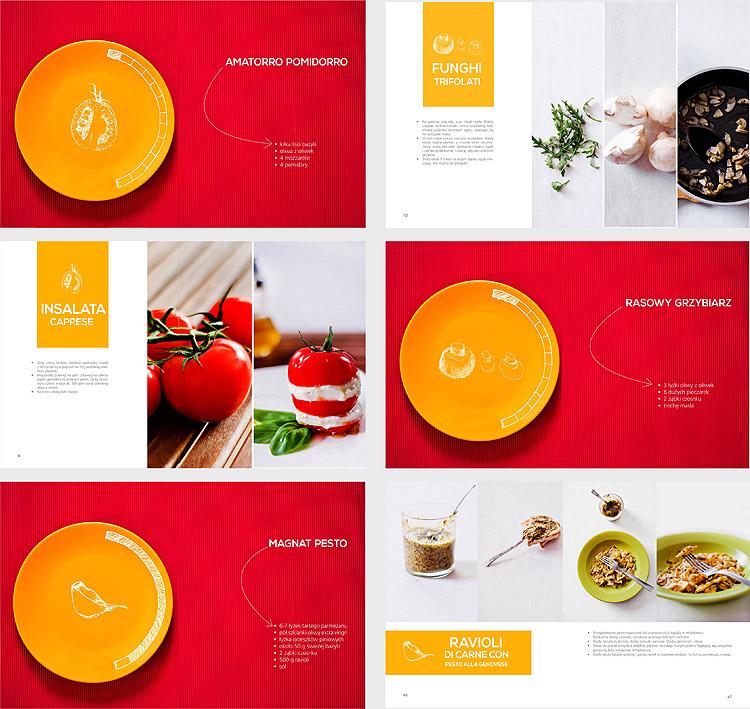 projekt rozkładówek wykorzystanych w ksiażce kucharskiej cook book