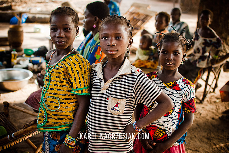 burkina faso african in a village children 11